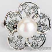 Кольцо «Гортензия» жемчуг