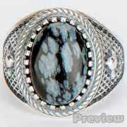 Кольцо «Лисси» обсидиан